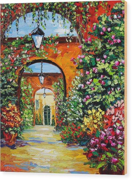 Garden Of Arches Wood Print by Beata Sasik