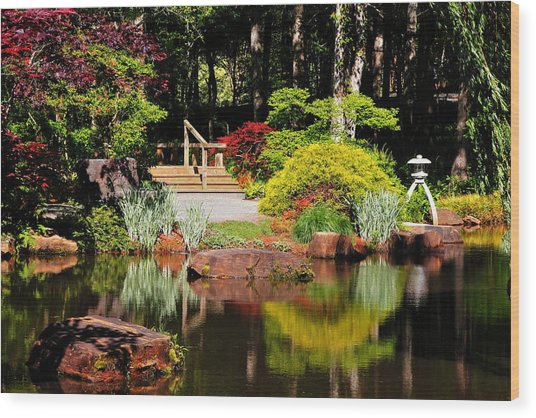 Garden Of Solitude Wood Print