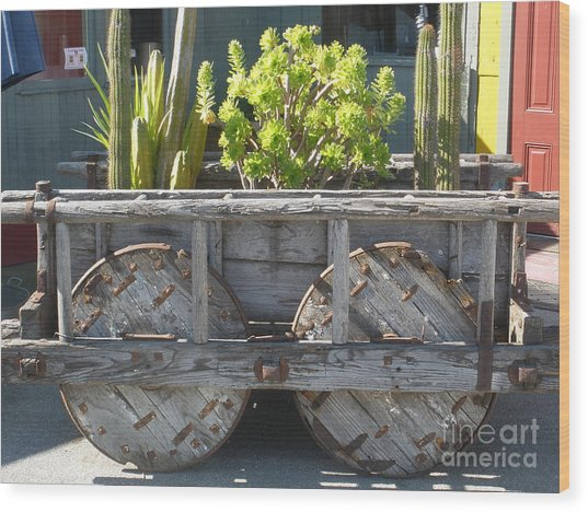 Garden On Wheels Wood Print