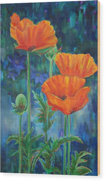 Garden Party Wood Print by Billie Colson