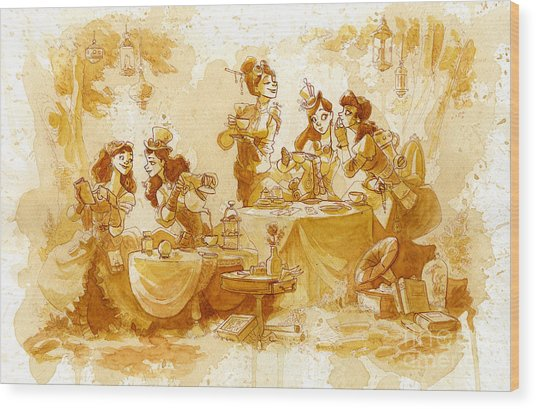 Garden Party Wood Print by Brian Kesinger