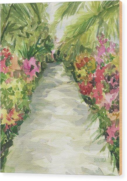 Garden Path New York Botanical Garden Orchid Show Wood Print