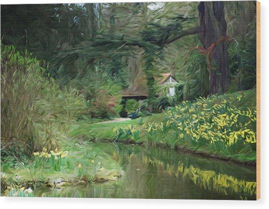 Garden Pond Wood Print