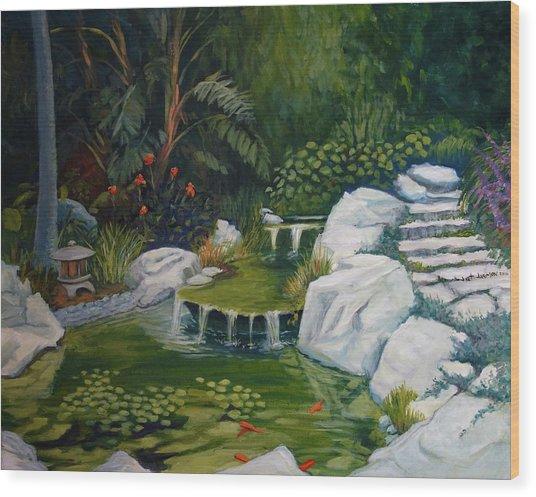 Garden Retreat Wood Print