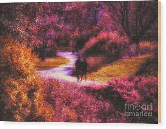 Garden Romance Wood Print