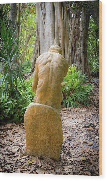 Garden Sculpture 2 Wood Print