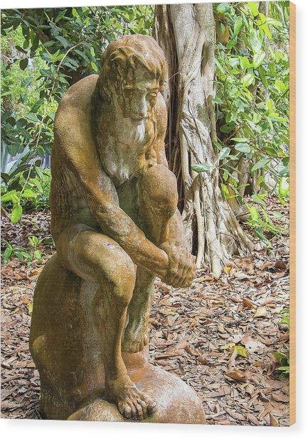 Garden Sculpture 3 Wood Print