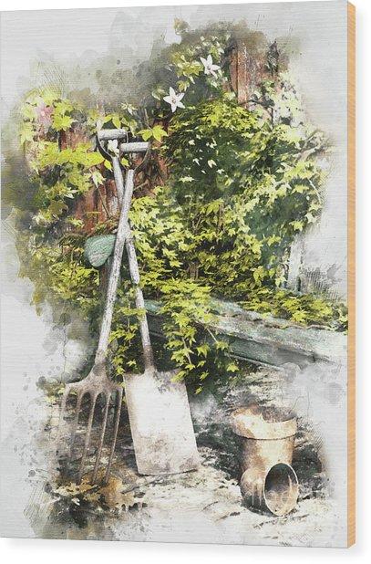 Garden Seat Wood Print