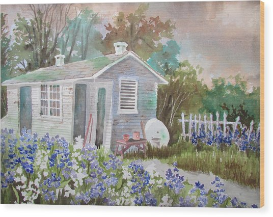 Garden Shed Two Wood Print