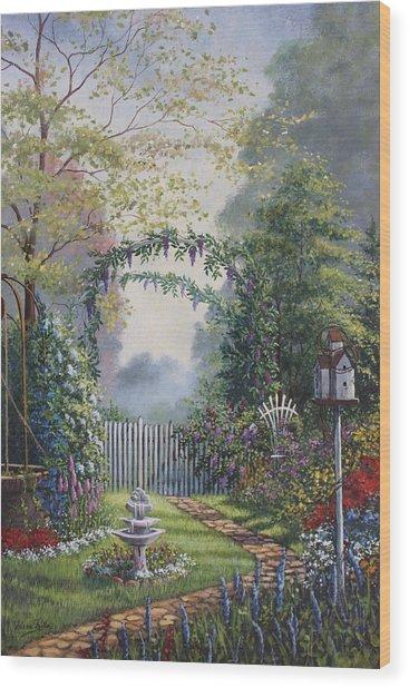 Garden Stroll Wood Print by Diana Miller