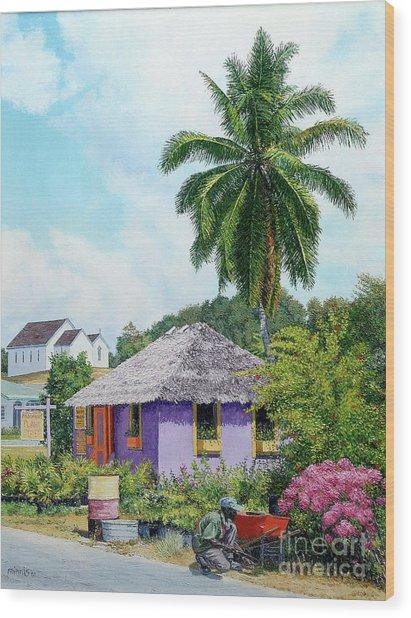 Gardener Hut Wood Print