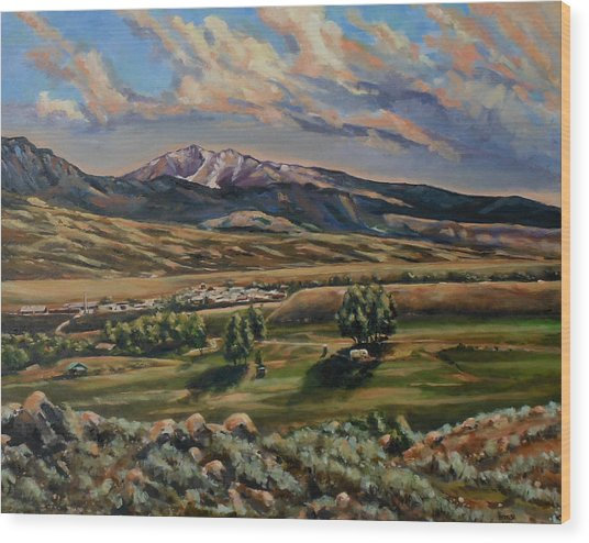 Gardiner And Electric Peak From Scotty's Place Wood Print