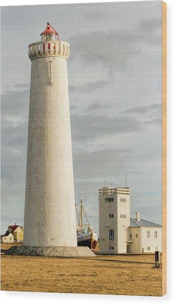 Gardskagi Lighthouse Iceland Wood Print