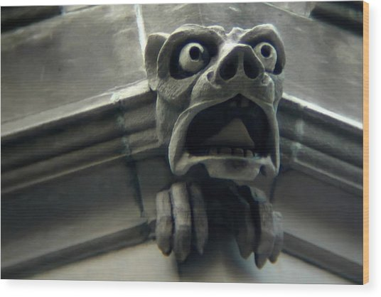 Gargoyle Wood Print by David April
