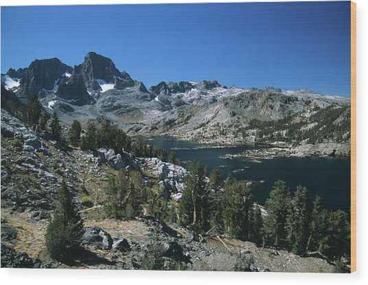 Garnet Lake And Banner Peak Wood Print