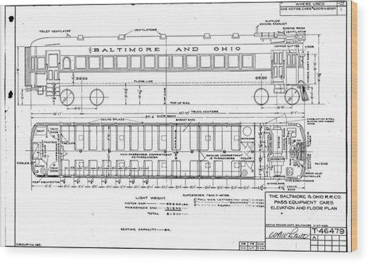 Gas Electric Car Diagram Wood Print