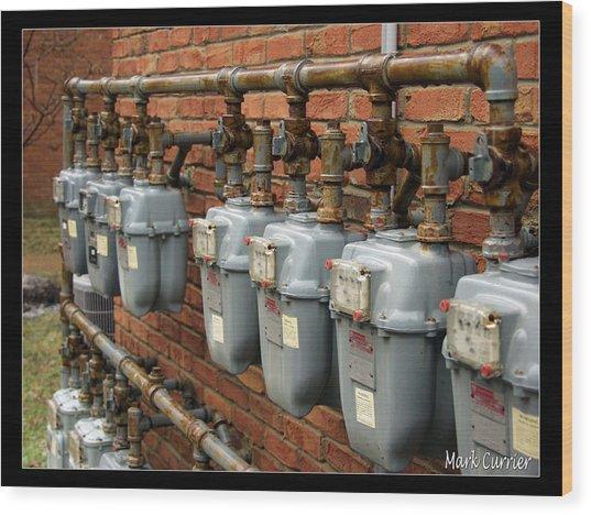 Gas Meters Wood Print