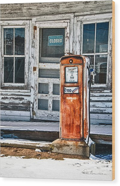 Gas Pump 7153 Wood Print
