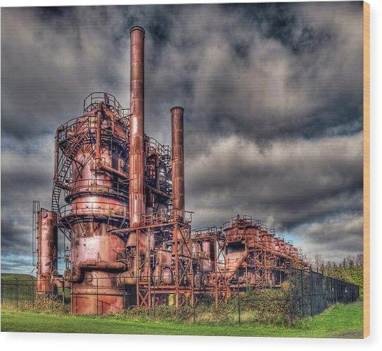 Gas Works Park - Seattle Wood Print