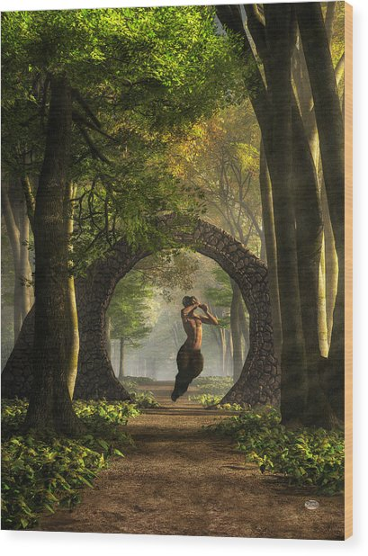 Gate To Pan's Garden Wood Print