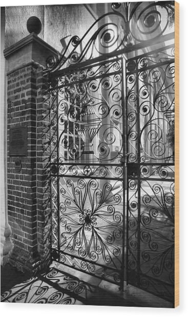 Gate To St. Michaels Wood Print