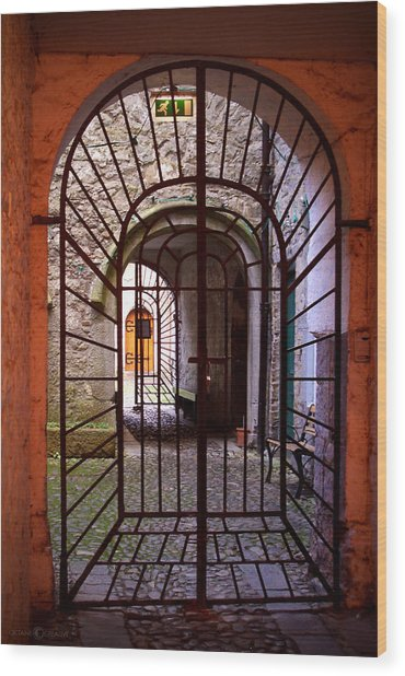Gated Passage Wood Print