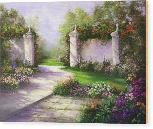 Gates In Menlo Park Wood Print by Gail Salitui