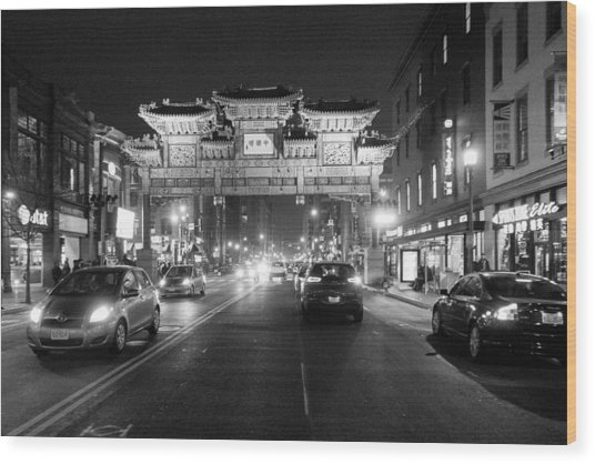 Gateway To Chinatown Wood Print