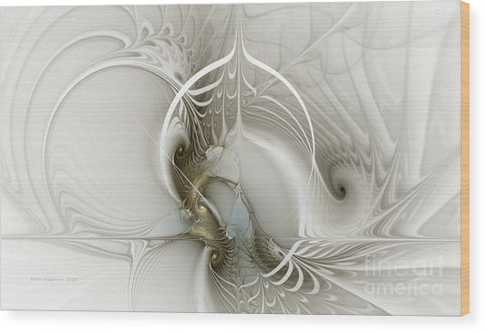 Gateway To Heaven-fractal Art Wood Print