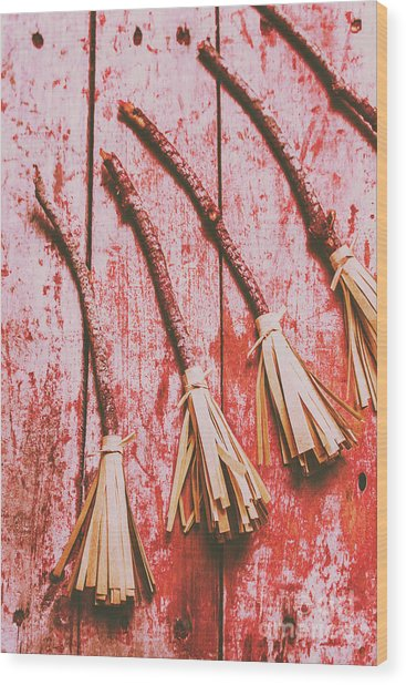 Gathering Of Evil Witches Still Life Wood Print