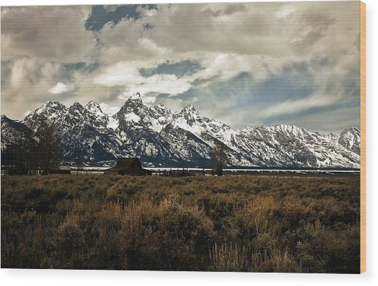 Gathering Storm Wood Print by Robert  McCord