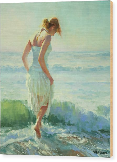 Wood Print featuring the painting Gathering Thoughts by Steve Henderson