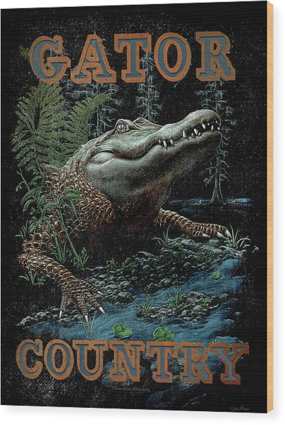 Gator Country Wood Print
