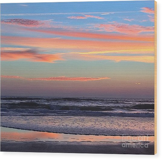 Gator Sunrise 10.31.15 Wood Print