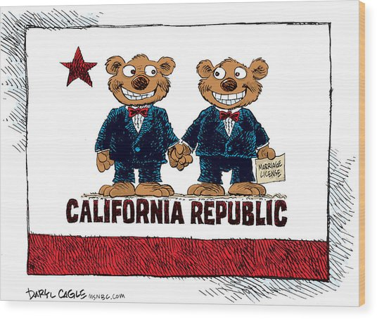 Gay Marriage In California Wood Print