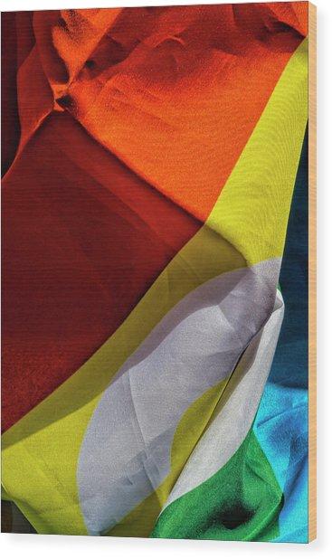 Gay Pride 2017 Nyc Pride Flag Wood Print by Robert Ullmann