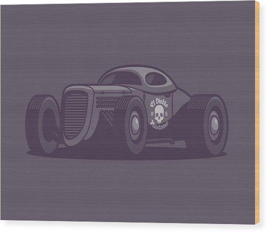 Gaz Gl1 Custom Vintage Hot Rod Classic Street Racer Car - Black Wood Print