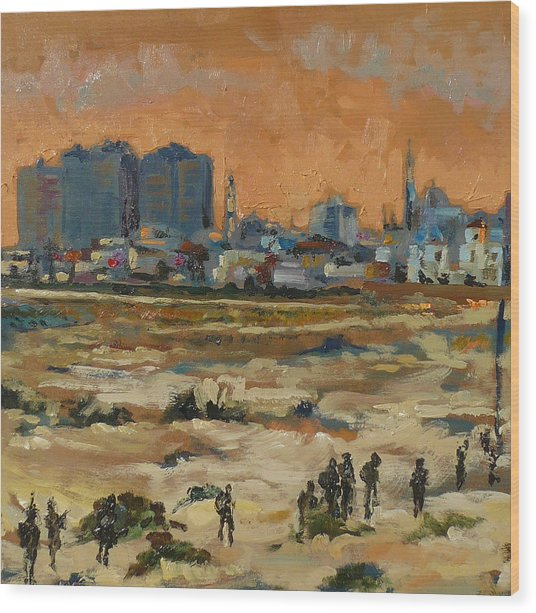 Gaza Landscape 021 Wood Print by Gavin Sane