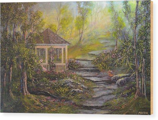 Gazebo's Light Wood Print