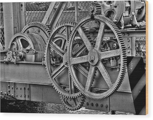 Gears Wood Print by William Wetmore