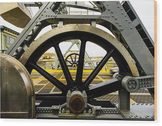 Gears Work Wood Print