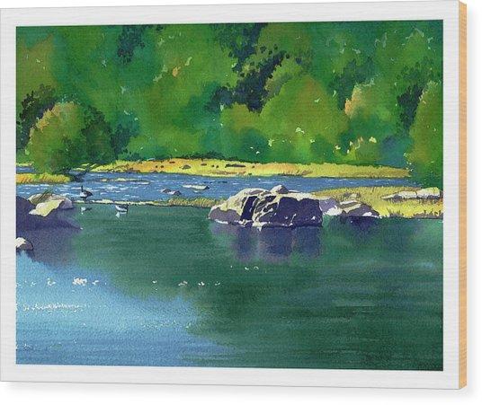 Geese On The Rappahannock Wood Print