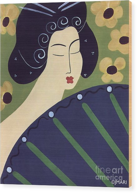 Geisha Doll Wood Print