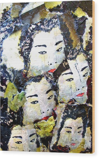 Geisha Girls Wood Print