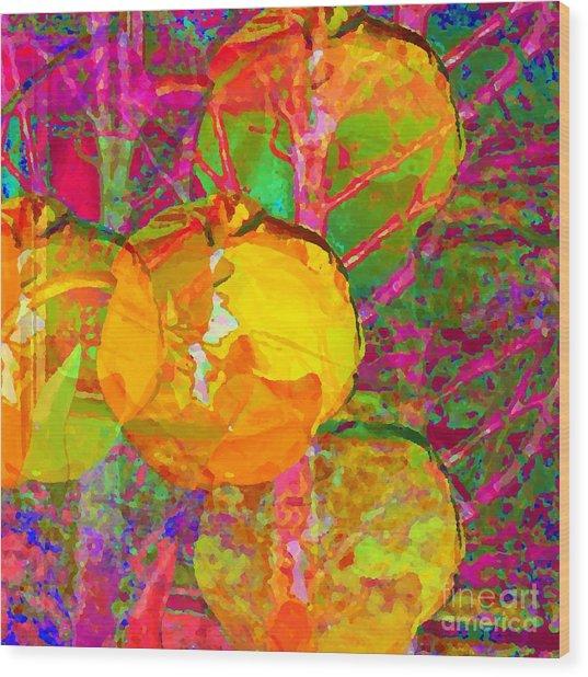 Gelbe Tulpen Wood Print