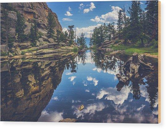 Gem Lake Reflections Wood Print