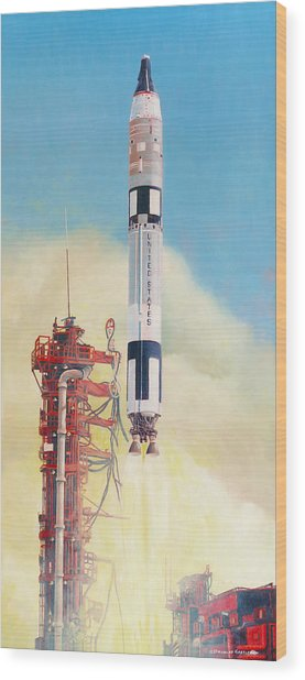 Gemini-titan Launch Wood Print