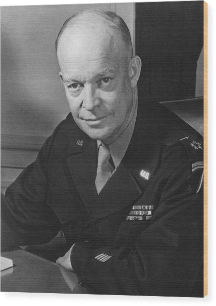 General Dwight Eisenhower Wood Print