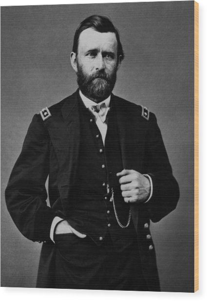 General Grant During The Civil War Wood Print