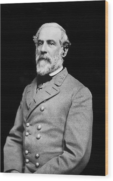 General Robert E Lee - Csa Wood Print